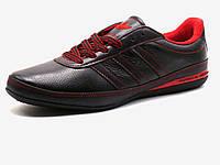 Кроссовки мужские Adidas Porsche Design кожаные, коричневые/ красные, фото 1