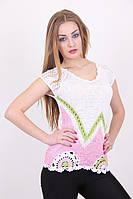Женская ажурная футболка в расцветках, фото 1
