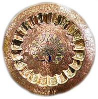 Тарелка бронзовая настенная 57 см
