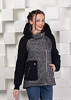 Куртка пальто женская твидовая