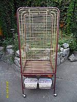 Вольер для крупных и средних птиц 80*80*152см;(Zolotaya Kletka) золото