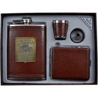 Подарочный набор Moongrass Фляга, лейка, стопка, портсигар AL704
