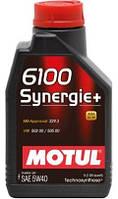 Моторное масло полусинтетика 5W40 MOTUL 6100 SYNERGIE+ SAE 5W40 (1L)