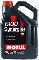Моторное масло полусинтетика 5W40 MOTUL 6100 SYNERGIE+ SAE 5W40 (5L)