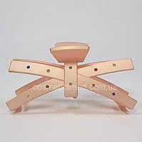 Заколка-краб розовая со стразами 128075 (Франция)