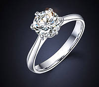 """Колечко""""Нежность""""с белым цирконом,подойдет для помолвки,свадьбы,"""
