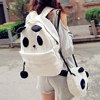 Городской стильный рюкзак. Повседневный  рюкзак. Рюкзак панда. Современные рюкзаки.Код: КРСК45