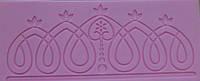 """Текстурный силиконовый коврик для мастики и айсинга""""оборка и кулон""""(Код 01065)"""