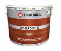 Грунт быстросохнущий TIKKURILA ROSTEX SUPER для металла и оцинковки, серый, 10л