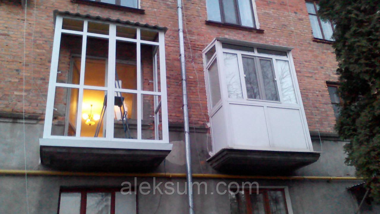 Балкон металлопластиковый, цена 12 231 грн., купить в житоми.