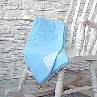 Мягкий плед-покрывало для детской кроватки с натуральной подкладкой для новорожденых