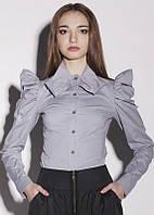 Блуза женская нарядная с присобранными рукавами KR-SS12/11