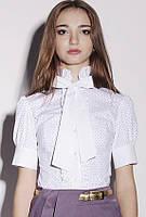 Блуза-рубашка женская с бантом KR-SS12/33