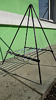 Подставка для шампуров и котелка + 6 шампуров  (Тренога)