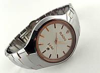 Мужские часы RADO  high-tech, цвет циферблата светлый, графитовые c золотом, сапфировое стекло