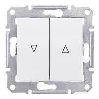 Выключатель для жалюзи электрическая блокировка белый Schneider Sedna (SDN1300121)