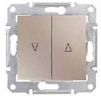 Выключатель для жалюзи электрическая блокировка титан Schneider Sedna (SDN1300168)