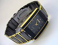 Мужские часы RADO, черные с золотом, кварц, радо