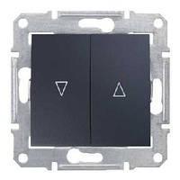 Выключатель для жалюзи электрическая блокировка графит Schneider Sedna (SDN1300170)