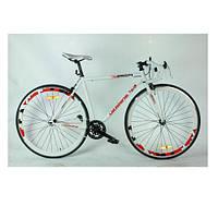Велосипед спортивный  28 дюймов  FIX26C700 модель гибрид фикс гир+сингл спид
