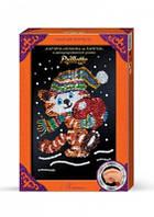 Картина-мозаика из пайеток Котик с сердечком от Danko Toys в декорированной рамочке