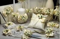 Свадебный набор аксессуаров для свадьбы в цвете айвори