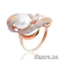 Золотое кольцо с жемчугом 6162