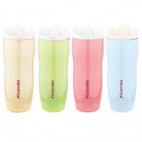 Термос-чашка 400мл (бежевый, салатовый, розовый, голубой)