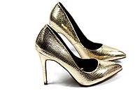 Туфли золотого цвета,туфли женские золотистого цвета
