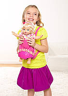 Интерактивная кукла пупс Little Mommy с рюкзаком-переноской и аксессуарами