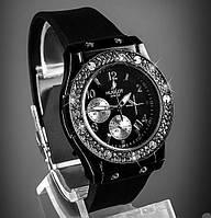 Часы Hublot чёрно-серебрянные