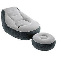 Комплект из надувных кресла и пуфика INTEX Ultra Lounge 68564