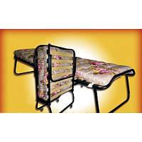 Раскладная кровать (раскладушка) детская на ламелях с ватным матрасом