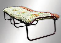 Раскладная кровать (раскладушка) на ламелях с ватным матрасом без колес