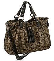 Замшевая женская сумка - мешок.