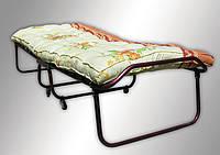 Раскладная кровать (раскладушка) на ламелях с ватным матрасом на колесах