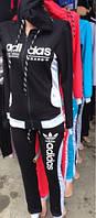Женский спортивный костюм Adidas двухнитка 42-48 р