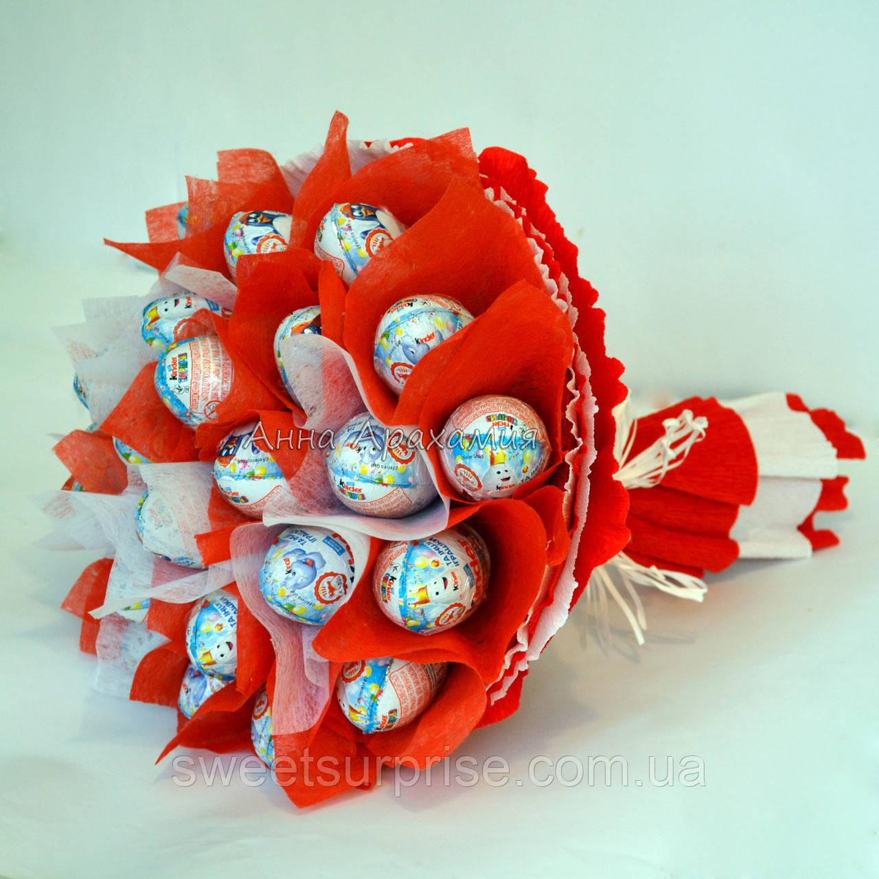 Букет из конфет своими руками из киндера