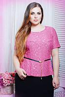 Блуза из гипюра ПАУЛА розовый, фото 1