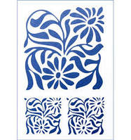 Трафарет Орнамент цветочный №2 22х31 см. пластик (код 03062)