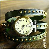Женские наручные часы браслет JQ зеленые