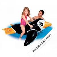 Детский надувной плотик Intex 56558 Пингвинёнок  (151х66см) от 3 лет
