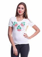 Стильная вышитая женская футболка , фото 1