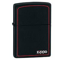 Зажигалка  BLACK MATTE w/ZIPPO BORDER Zippo (218 ZB)