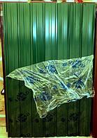 Профнастил ПС-10, 15-ть волн, цвет:зеленый, 2м х 95 см для забора