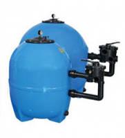 Фильтровальный бак NS-22 (стекловолокно),  22 м³/час, диаметр 830 мм, 6- позиционный боковой клапан, загрузка