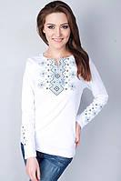 Женская вышиванка с длинным рукавом белого цвета, фото 1