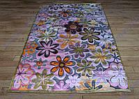 Акриловый рельефный ковер Bonita (Турция) ромашки яркий