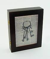 "Ключница настенная деревянная ""Ключи"", размер 21х26 см"