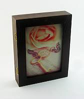 "Настенная ключница ""Роза и ключ"", размер 21х26 см"
